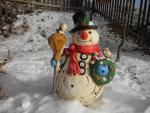 sněhulák velký,keramická dokorace do zahrady