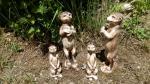 surikatí rodinka,keramická zahradní dekorace