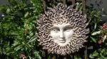 Slunce ffancouzké,nástěnná keramická dekorace