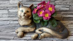 kočka osazovací,keramická zahradní dekorace