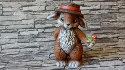zajíc,velikonoční keramická dekorace