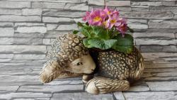 keramická osazovací ovce,dekorace do zahrady