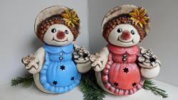sněhule malá svítící keramická dekorace