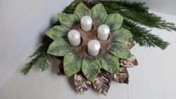 svícen adventní,keramická dekorace